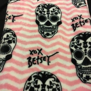 Betsey Johnson Skull Throw Blanket
